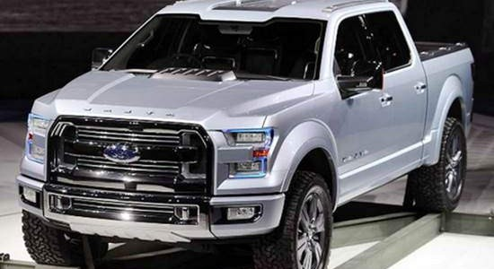2016 Ford Atlas white front view