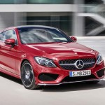 2016 Mercedes C Class Coupe red front view