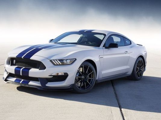 exterior of 2017 Ford Mustang GT white