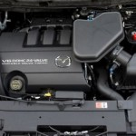 Under the hood 2016 Mazda CX-9 engine V6 DOHC 24 Valve