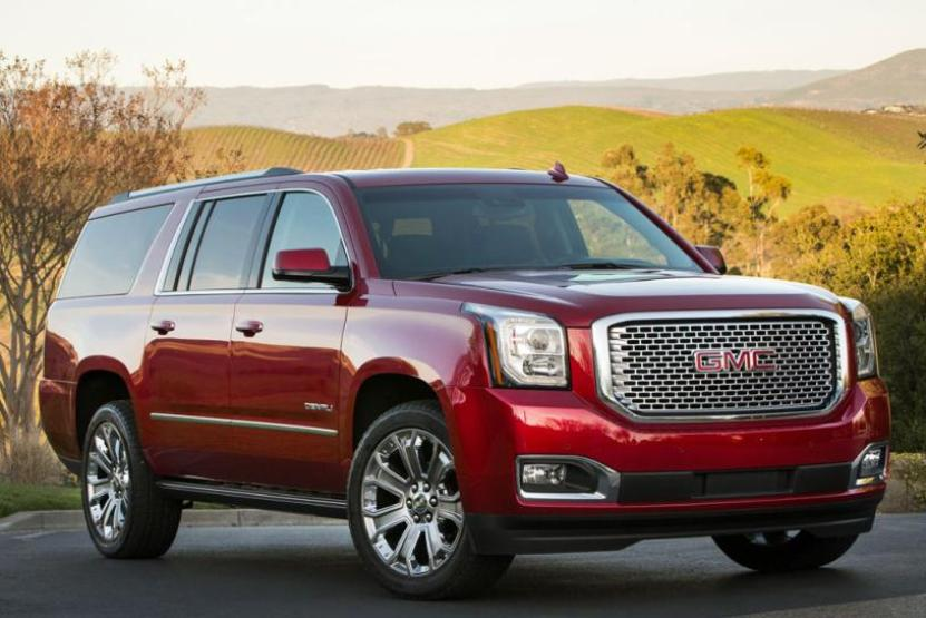 red color 2016 GMC Yukon as best 9 passengers vehicle