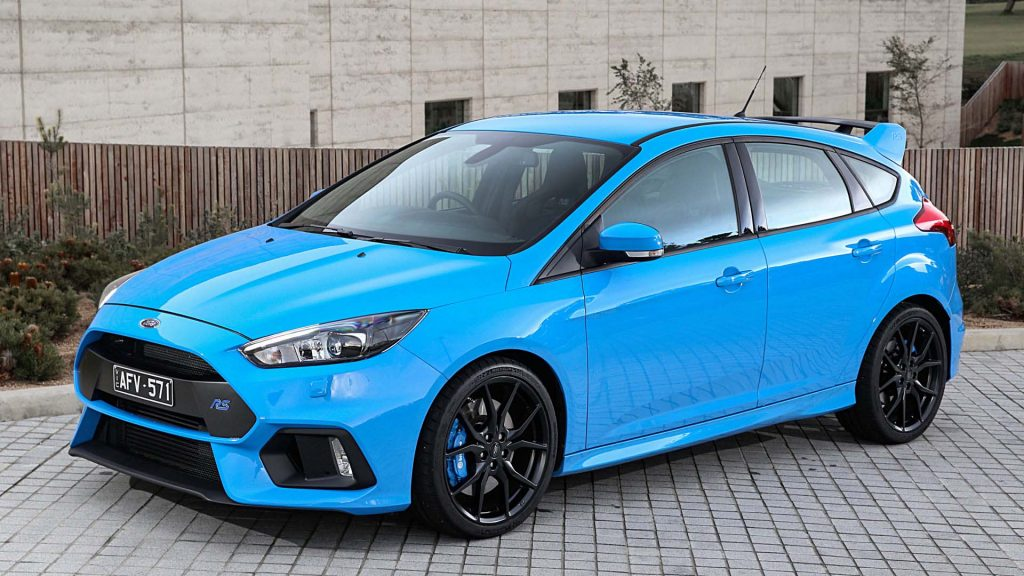 light blue Ford focus RS HD wallpaper picture