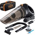 Buy Cheap Portable Car Vacuum Cleaner: High Power Corded Handheld Vacuum w/ 16 foot cable – 12V – Best Car & Auto Accessories Kit for Detailing and Cleaning Car Interior